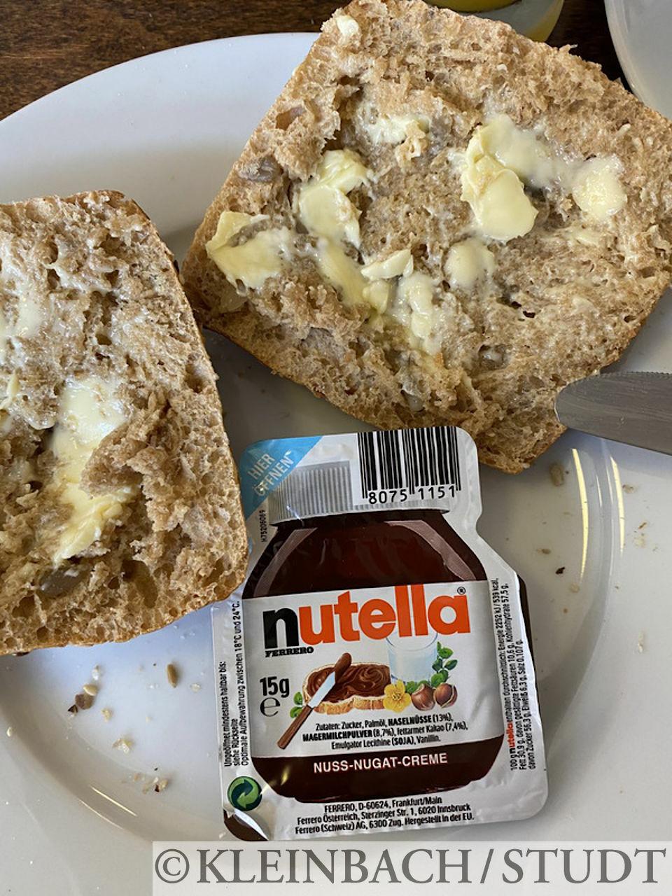 Nutella zum Frühstück