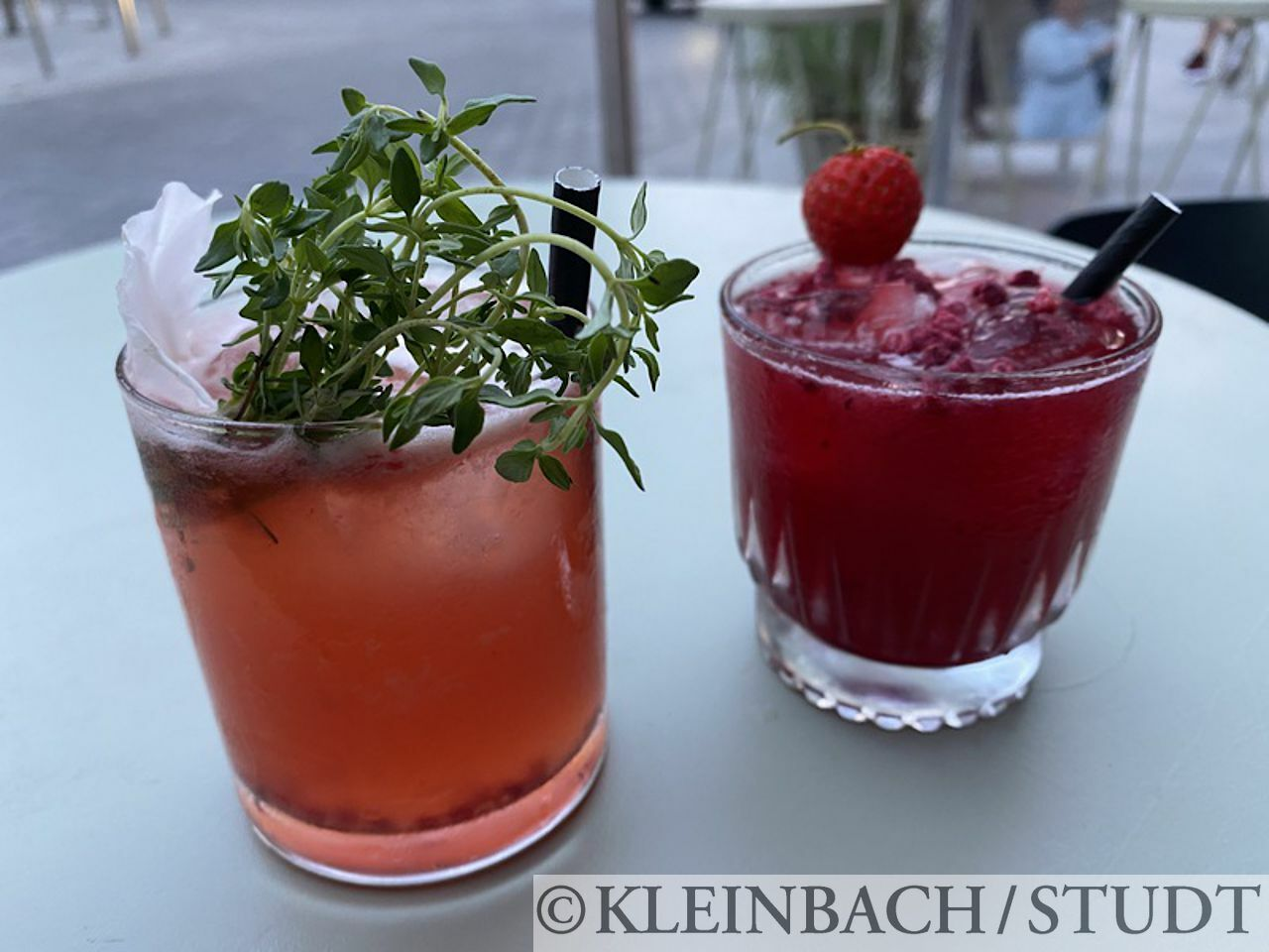 Zwei nette Drinks zum Tagesabschluß