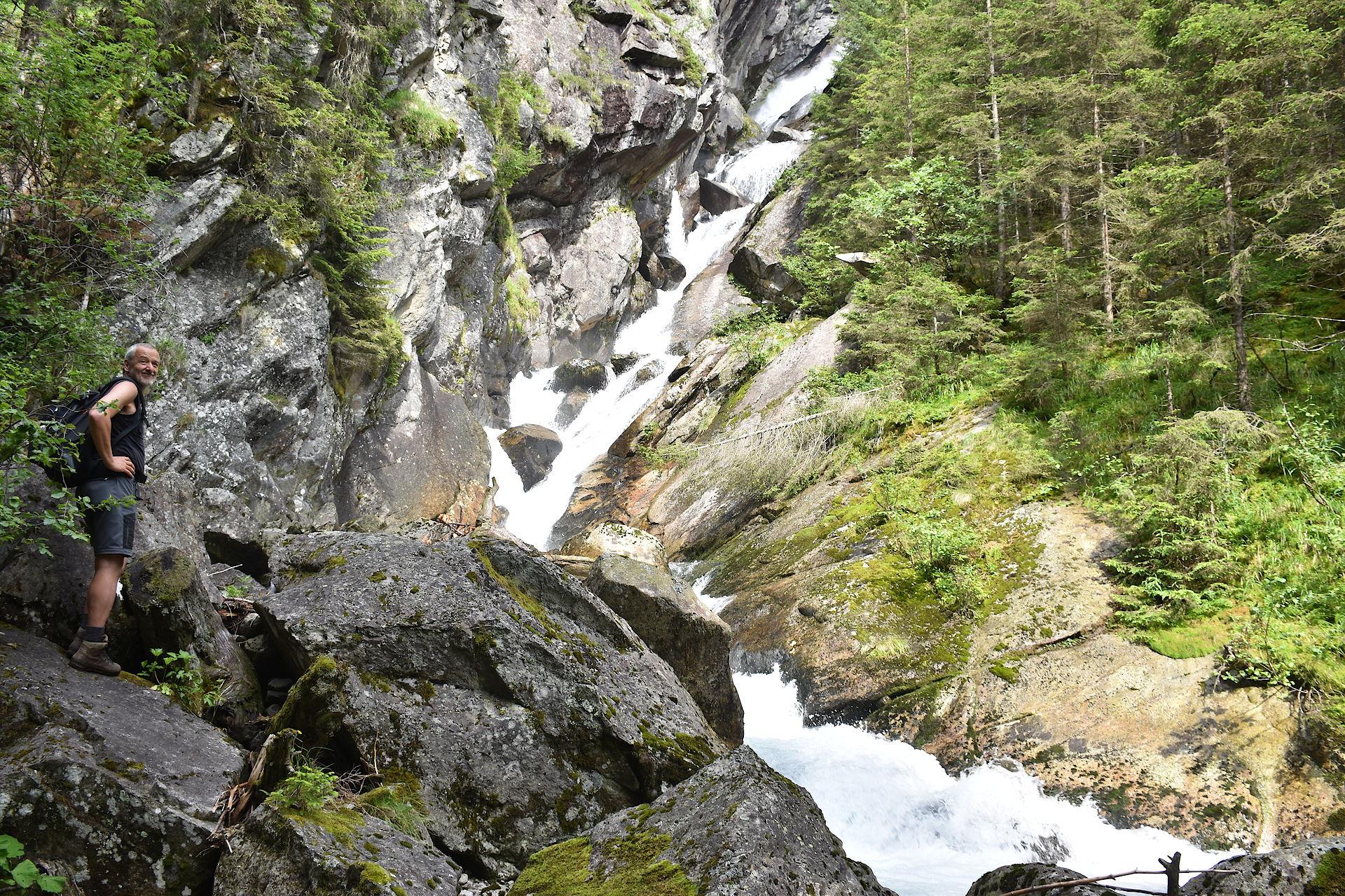 Wasserfall beim Alpenhaus Prossau