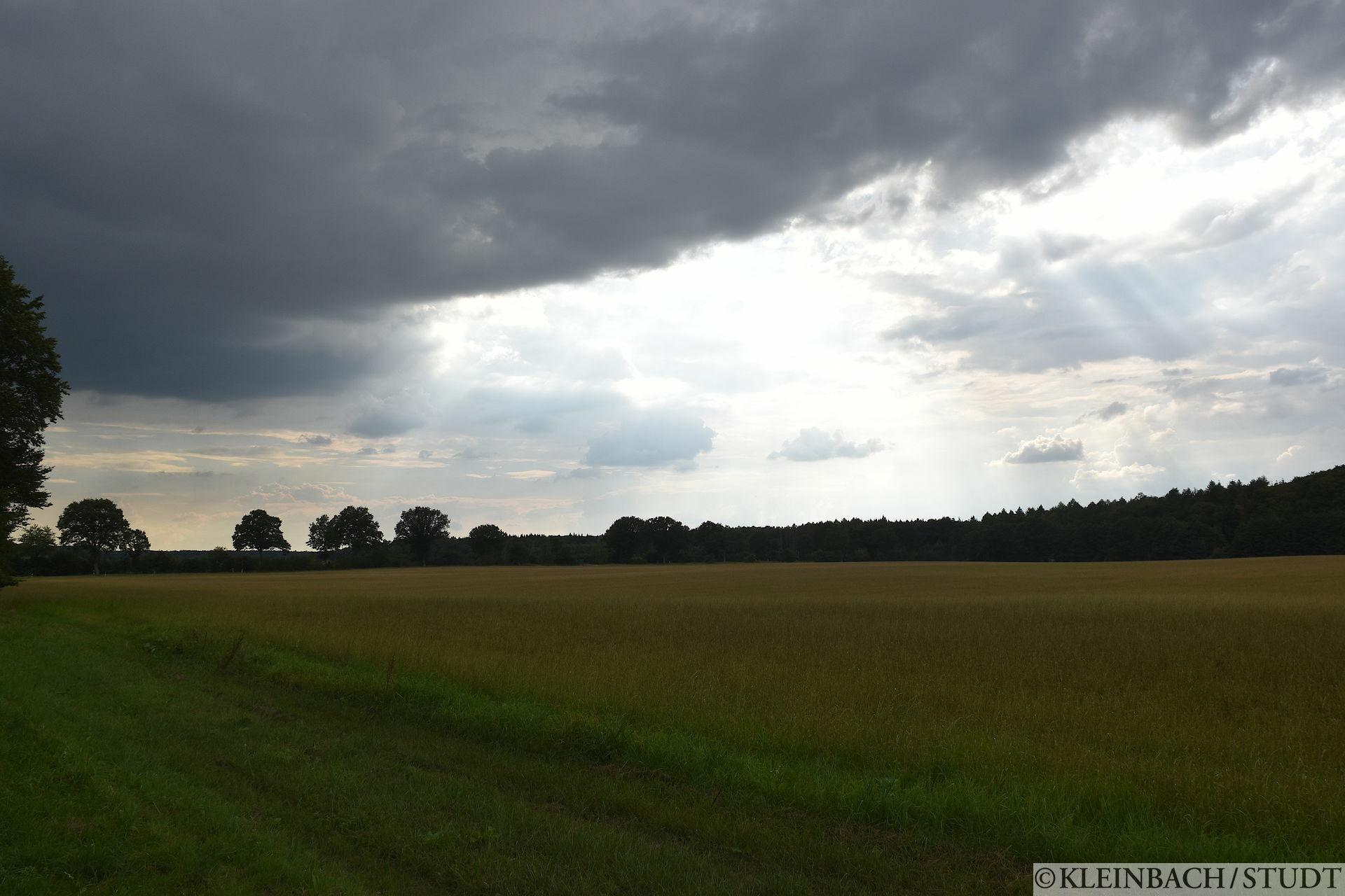 Nicht hier, erst kurz vor Hamburg hat mich dann noch Regen erwischt